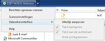 Nod32 ea oe toolbar Outlook Express  en Windows Mail werkbalk