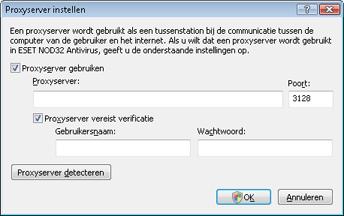 Nod32 ea proxy server Proxyserver instellen