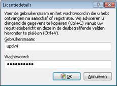 Nod32 ea settings update username Gebruikersnaam en wachtwoord invoeren