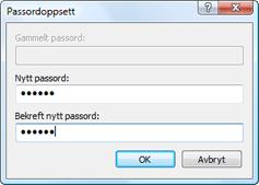 Nod32 ea change password Endre passord