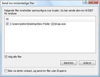 Nod32 ea charon confirm Send inn mistenkelige filer