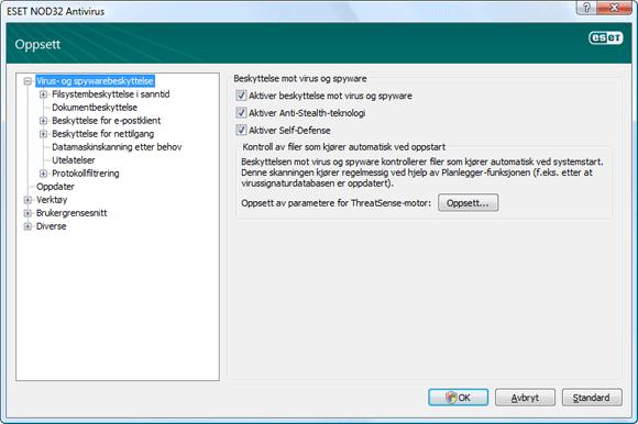 Nod32 ea config antivirus Virus  og spywarebeskyttelse – Oppsett