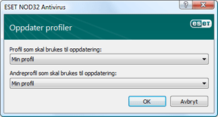 Nod32 ea config update sched Oppdater profiler