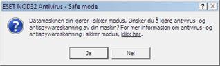 Nod32 ea safemode Sikker modus
