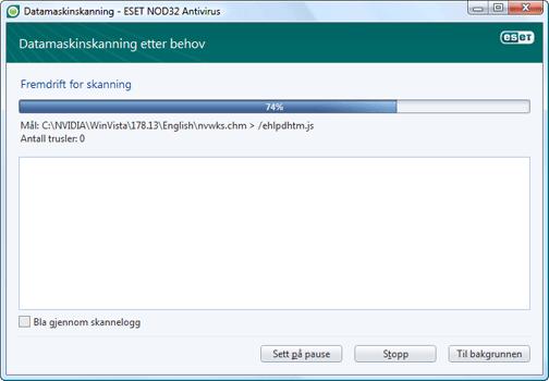 Nod32 ea scan window Datamaskinskanning – vindu
