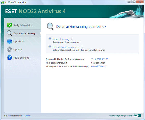Nod32 ea scanner main Datamaskinskanning