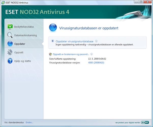Nod32 ea update main Oppdater