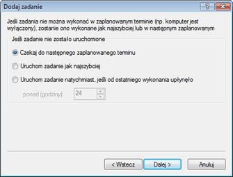 Nod32 ea scheduler notstart Dodaj zadanie — jeśli zadanie nie zostało uruchomione