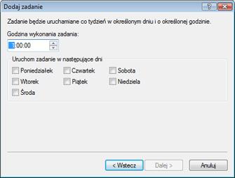 Nod32 ea scheduler weekly Dodaj zadanie — cotygodniowo