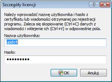 Nod32 ea settings update username Szczegóły licencji