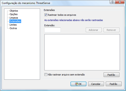 Nod32 ea config extension Extensão