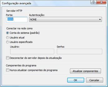 Nod32 ea config update mirror advance Configuração avançada