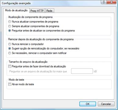 Nod32 ea config update mode Modo de atualização