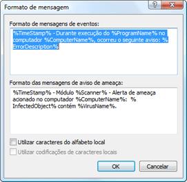 Nod32 ea format notice Formato de mensagem
