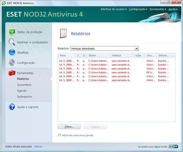 Nod32 ea page logs Arquivos de log