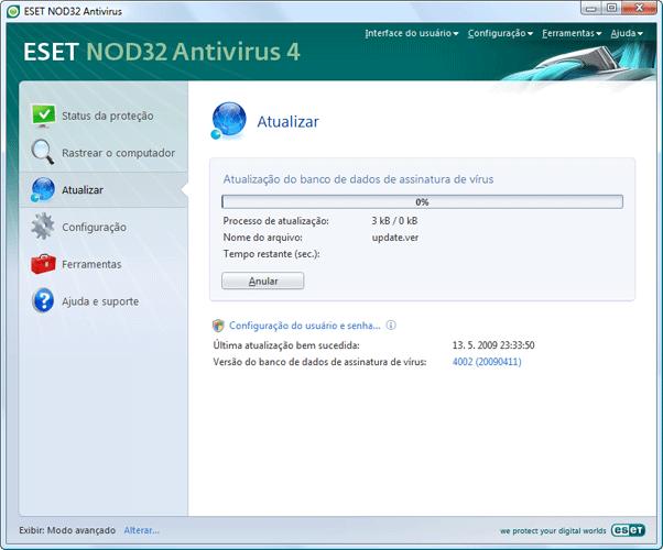 Nod32 ea page update 02 Atualizar
