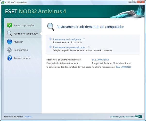 Nod32 ea scanner main Verificação de computador sob demanda