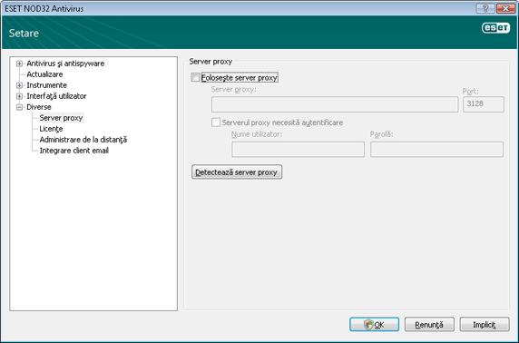Nod32 ea config connection Server proxy