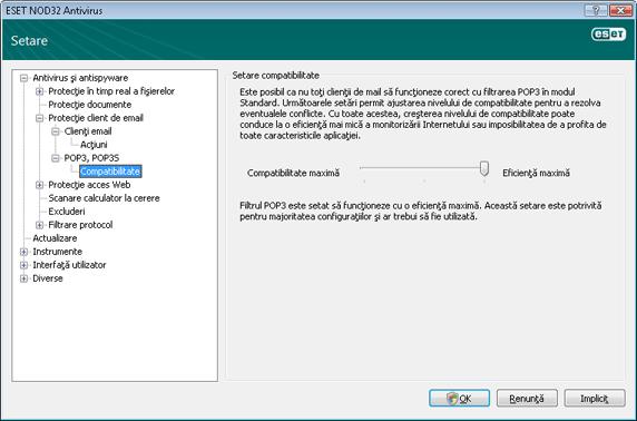 Nod32 ea config epfw scan pop3 comp Compatibilitate