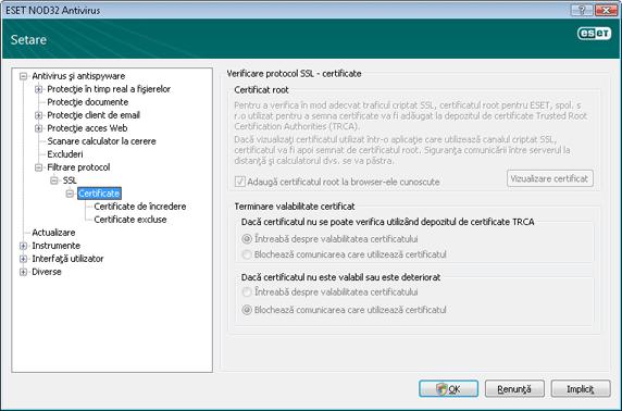 Nod32 ea config epfw ssl cert set Certificate