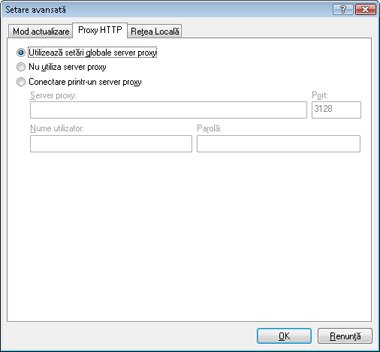 Nod32 ea config update connection Server proxy