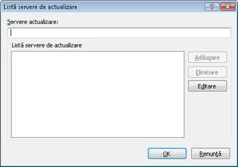 Nod32 ea config update servers Listă servere de actualizare