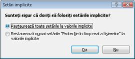 Nod32 ea default2 Setări implicite 2