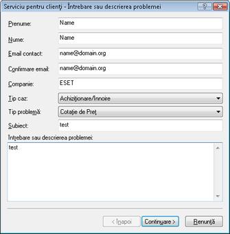 Nod32 ea support request Depanare