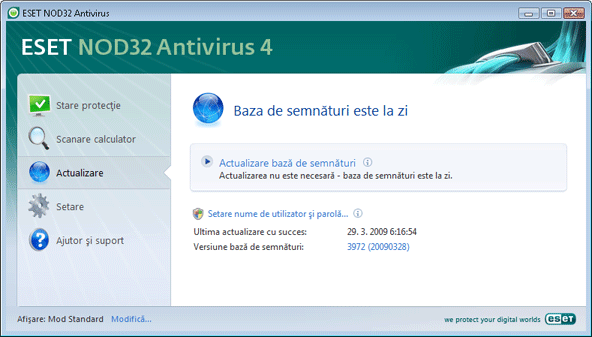 Nod32 ea update main Actualizare