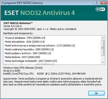 Nod32 ea about O aplikácii ESET NOD32 Antivírus