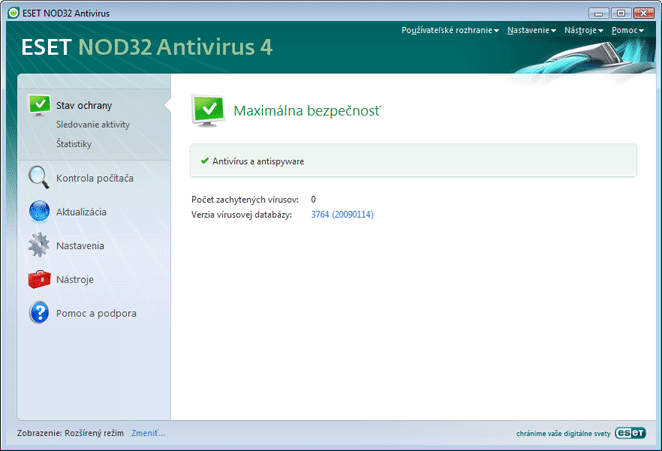 Nod32 ea advanced mode Rozšírený režim