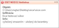 Nod32 ea antivirus behavior and user interaction Správanie antivírusovej ochrany a interakcia s užívateľom