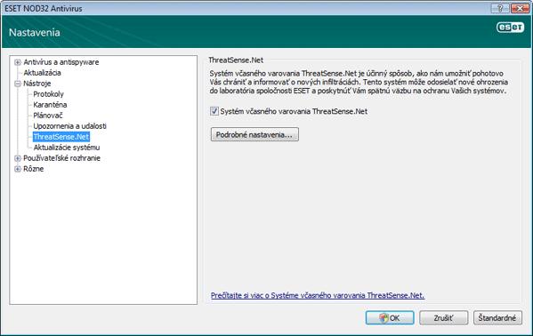 Nod32 ea config charon ThreatSense.Net