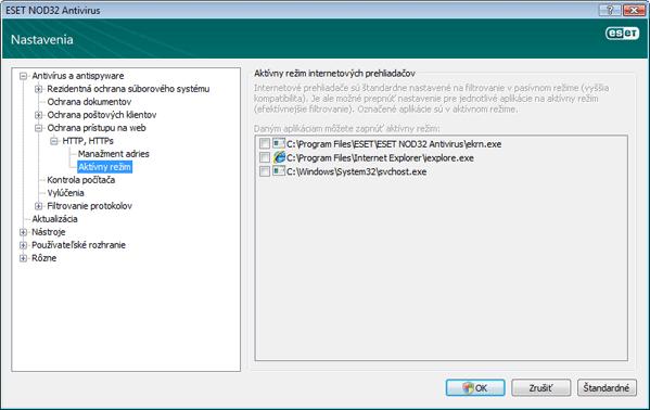 Nod32 ea config epfw browsers Prehliadače