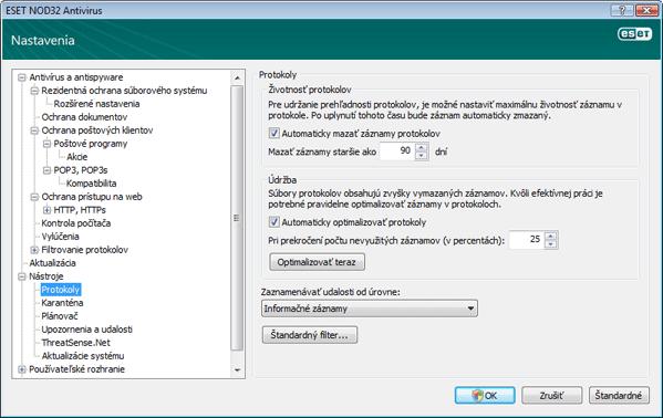 Nod32 ea config logs Protokoly