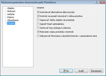 Nod32 ea config scanner scan Nastavenie kontroly počítača