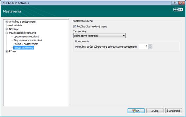 Nod32 ea config shellext Kontextové menu