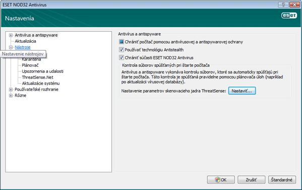 Nod32 ea config tools Nástroje