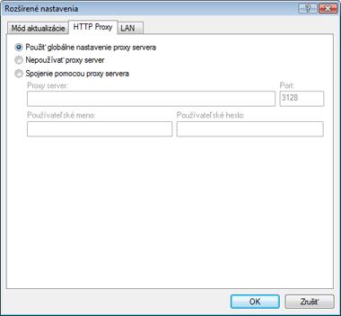 Nod32 ea config update connection HTTP Proxy   nastavenie aktualizácie