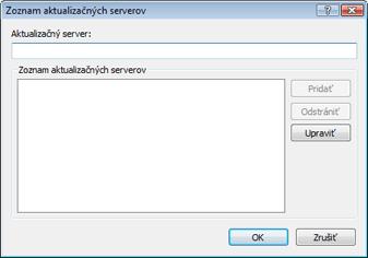 Nod32 ea config update servers Zoznam aktualizačných serverov