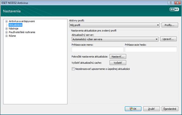 Nod32 ea config update source Aktualizácia   základné nastavenia