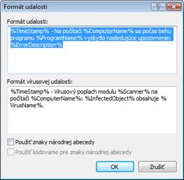 Nod32 ea format notice Formát udalosti