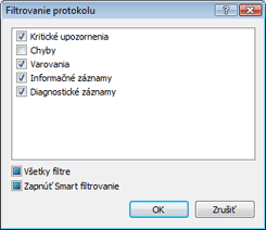 Nod32 ea log filter Filtrovanie protokolu
