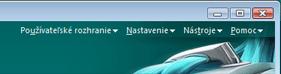 Nod32 ea menu Programové menu