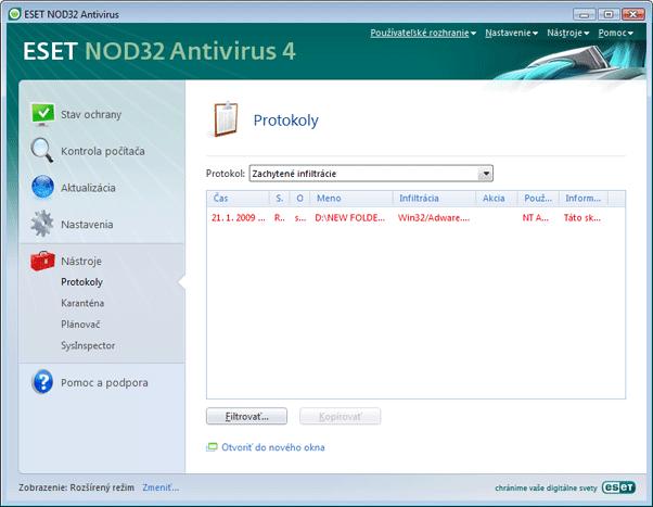 Nod32 ea page logs Protokoly