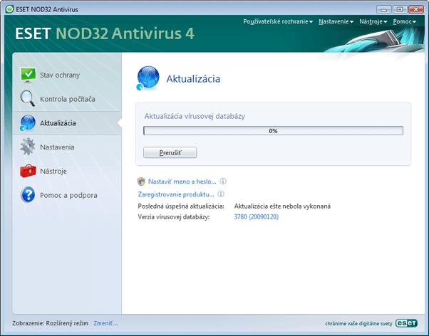 Nod32 ea page update 02 Aktualizácia