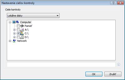 Nod32 ea profile target Nastavenie cieľov kontroly počítača
