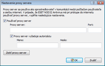 Nod32 ea proxy server Nastavenie Proxy servera