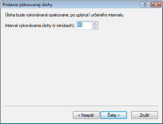Nod32 ea scheduler repeat Pridanie úlohy   opakovane