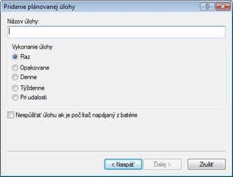 Nod32 ea scheduler type Pridanie úlohy   typ úlohy